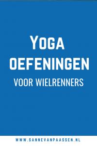 Yoga oefening voor wielrenners