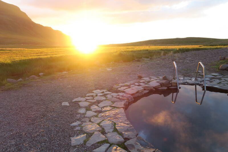 zonsondergang ijsland