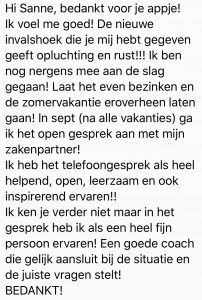 review gratis coachcall sanne van paassen
