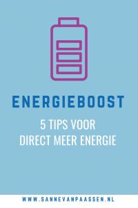 tips voor die energie boost