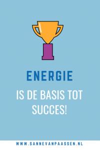 energie is de basis tot succes