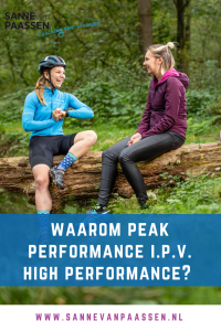 waarom peak performance ipv high performance coaching