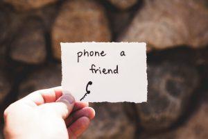 stress verminderen door vrienden
