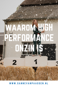 high performance is onzin