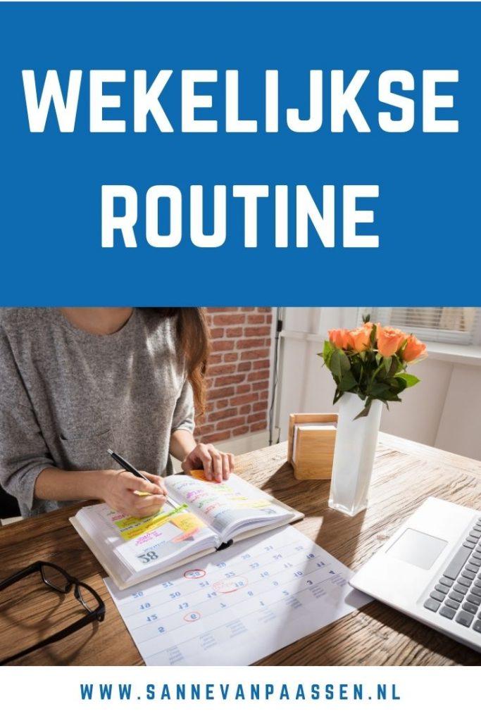 wekelijkse routine